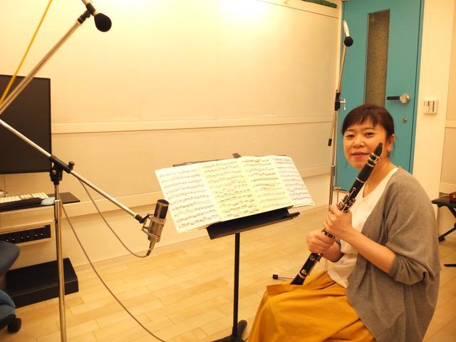 レコーディングスタジオをご利用頂きましたクラリネット奏者の桐岡万葉子さん