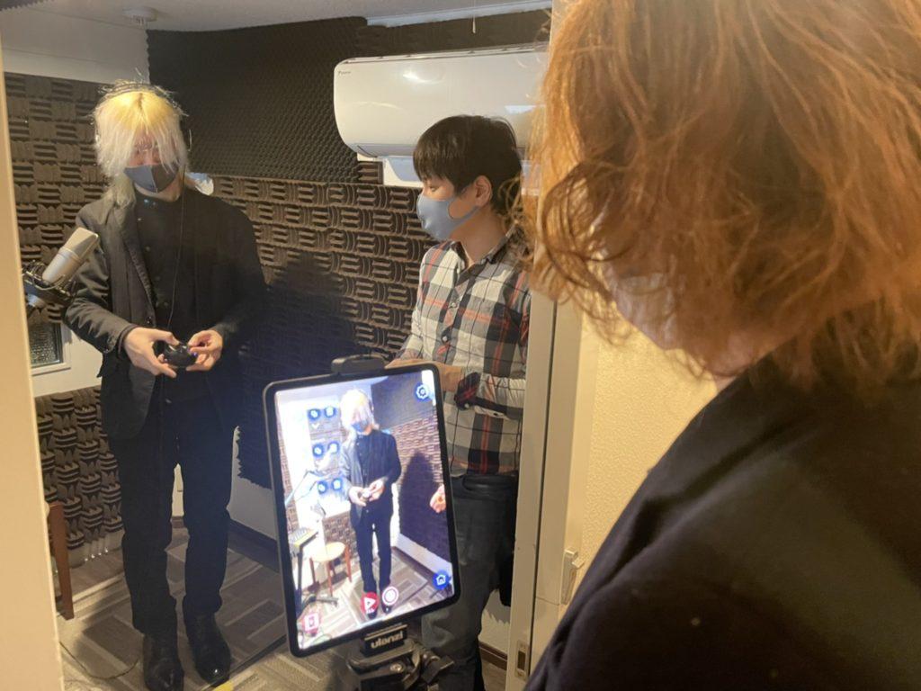 御茶ノ水のボイスレコーディングスタジオ「Moonbow Music Tokyo」でAR演奏動画を撮影