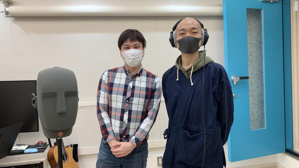 ダミーヘッドマイクNEUMANN(ノイマン) KU100と弊社代表と赤坂さん