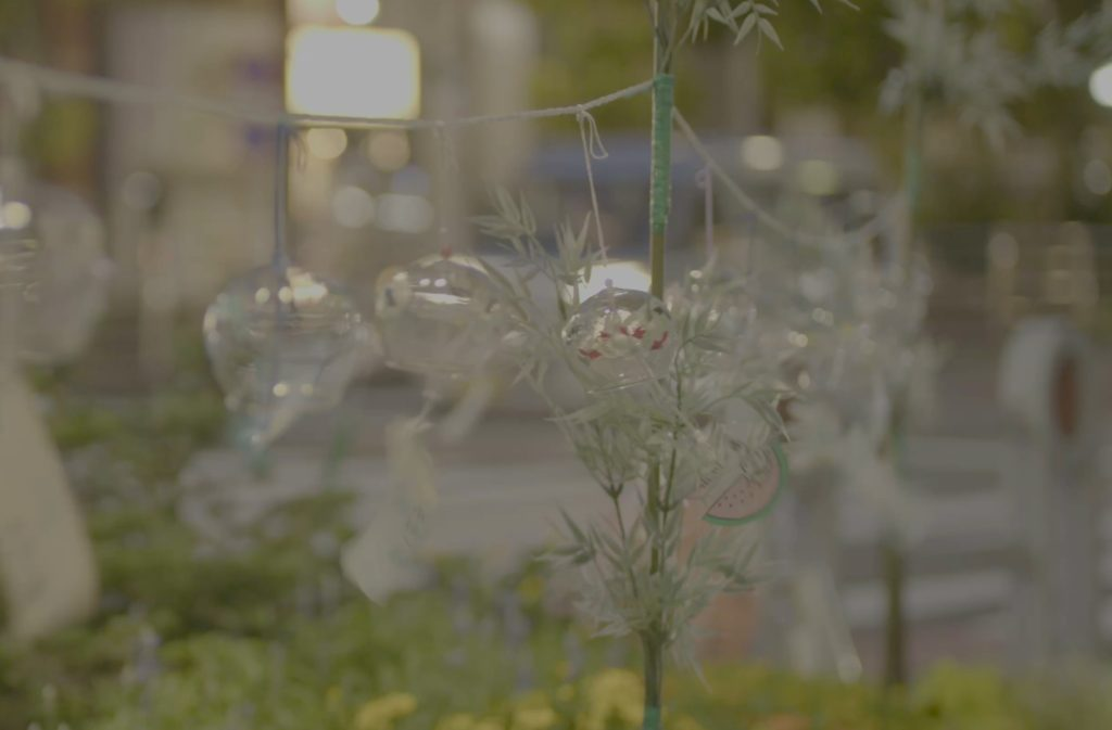 御茶ノ水ボイススタジオの近くに設置されている風鈴